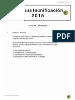 Campus tecnificación 2015.1.Lunes 22 de Junio