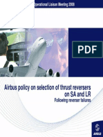 Airbus Policy on Selection of Thrust Reversers