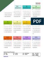Kalender 2015 Querformat Jahresuebersicht in Farbe