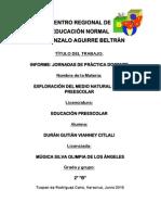 Informe, Jornadas de Práctica