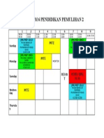 Pismp Sem 6 Pendidikan Pemulihan 2 Timetable