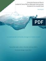 """Tesina Comunicación Social UNR 2014 """" Las prácticas del Community Manager en medios sociales"""""""