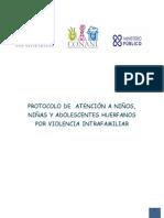 Protocolo de Atención a NNA Huerfanos Por Violencia Intrafamiliar
