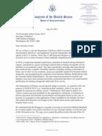 Letter urging Defense Secretary Ash Carter to allow transgender individuals to serve openly