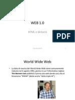 10. WEB 1.0 - HTML