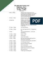 Midland Canada Day schedule