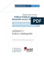 Modulo 1 - Indice y Bibliografia
