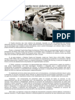 Toyota Apresenta Novo Sistema de Produção