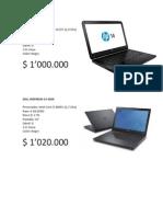 especificaciones portatil