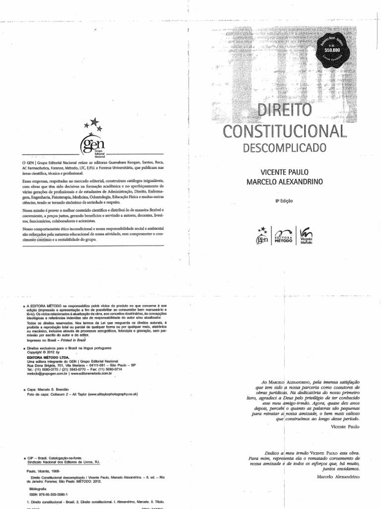 Direito Constitucional Descomplicado Pdf