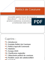 Evoluția Politicii de Coeziune Final