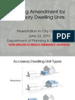 ADU Presentation to City Council