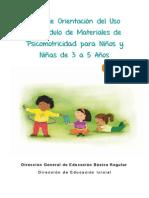 Guía de Orientación del Uso del Módulo de Materiales de Psicomotricidad para Niños y Niñas de 3 a 5 Años - Ciclo II