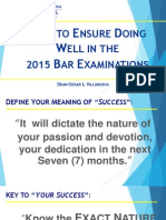 2015 Doing Well in Bar Exams