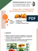 Refrigeración y congelación de la papaya