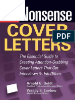 No-Nonsense Cover LettersCover letters for various purposesCover letters for various purposesCover letters for various purposes