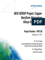 Copper-Beryllium Alternatives