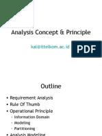 Analysis Concept and Principle