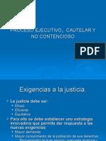 Desarrollo de Clases Procesal Civil, Cautelar y No Contencioso