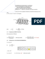 Ejemplo de Inductores solenoides monocapa sin nucleo