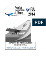 Homenaje a Efrain Huerta en la Feria Universitaria del Libro 2014