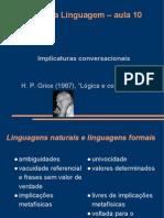 Filosofia Da Linguagem -- Aula 10 -- Implicaturas Conversacionais