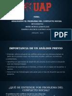 Tema de analisis de conflicto social