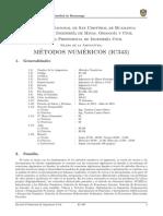 Silabo Metodos Numericos Ic343 2015