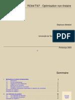 RO04/TI07 - Optimisation Non-linéaire