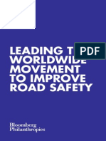 Bloomberg Philanthropies Leading the Worldwide Movement to Improve Road Safety