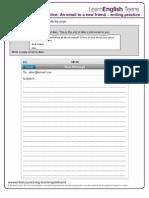 English - Writing Practice- FCE level