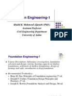1- Foundation Engineering-1 Course Outline and Introduction