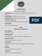 cocktail party menu web