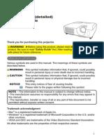 Projector Manual 5524