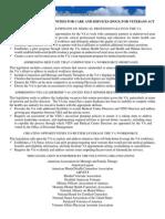 DOCS for Vets Summary
