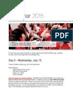 Seminar 2015 Schedule-at-a-Glance (TopGun Area)