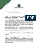Minuta de Resposta de Pedido de Informação - Douglas Fabiano