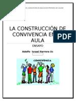 LA CONSTRUCCIÓN DE LA CONVIVENCIA EN EL AULA - ENSAYO