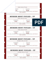 Murder Most Fouled-Up Tickets