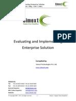 Evaluating and Implemeting Enterprise Solution WMS SCM 3PL TMS Software Mfg ERP CRM System