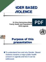 Gender Based Violence Health Sciences