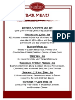 spring bar menu
