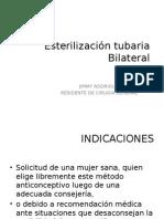 Esterilizacion Tubaria Bilateral