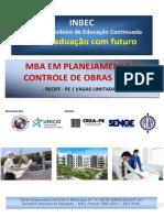 Mba Em Planejamento e Controle de Obras - 460h - Inbec Pe