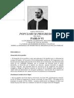 Carta Encíclica Populorum Progressio (Pablo Vi)