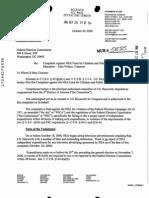 Oct 2006 FEC Complaint Re FOLEY vs NEA