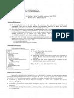 Subiect Admitere 2014 Iulie Informatica