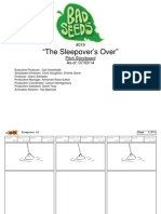 "Harvey Beaks ""The Sleepover's Over"" Original Storyboard"