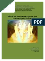 Teoria Del Pensamiento Grupal y La Cultural Organizacional