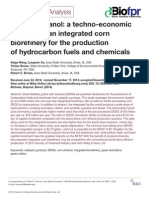 A Techno-economic Analysis of an Integrated Corn Biorefinery for Production of Hydrocarbon Fuels & Chemicals